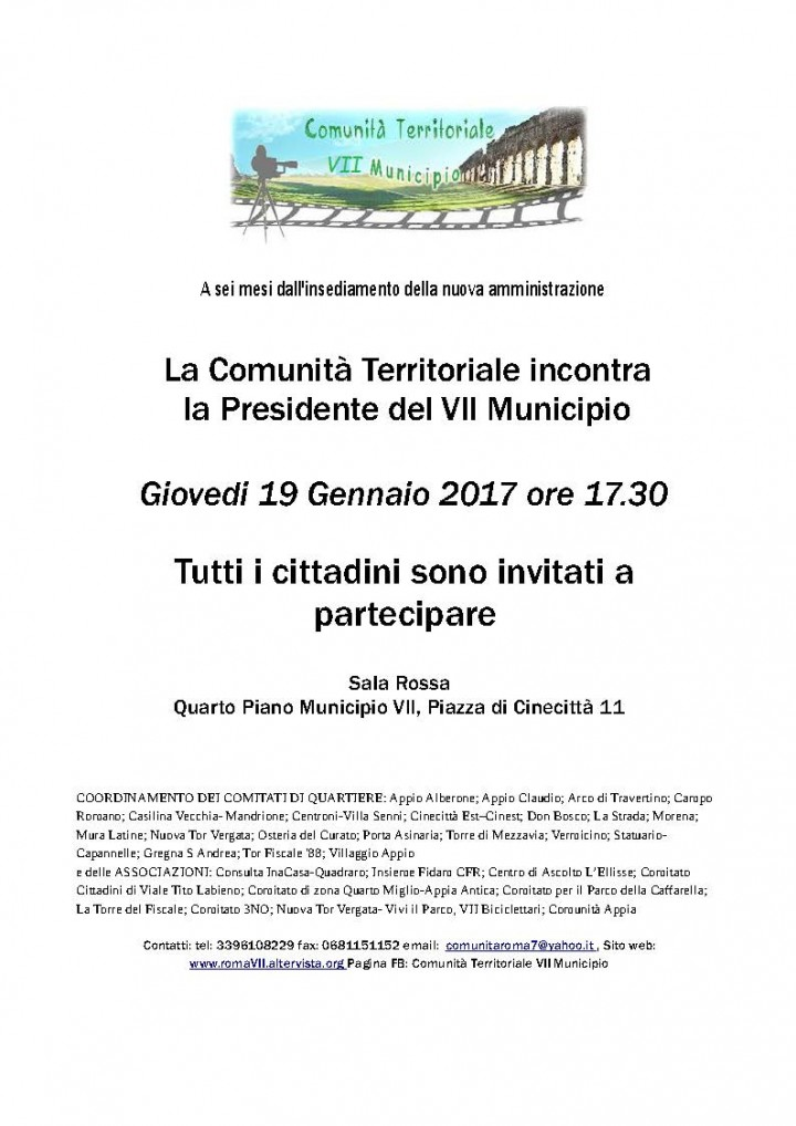 Assemblea Presidenza VII Municipio